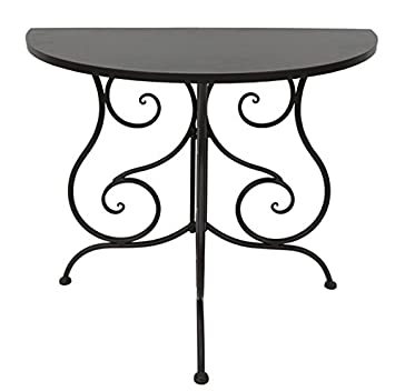 Halbrunder Wandtisch.Nene Home Ponti Halbrunder Wandtisch Aus Dunkelrostfarben