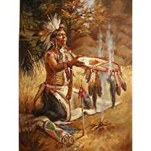 12X16 inch Figure Canvas Art RePro Native American Indian