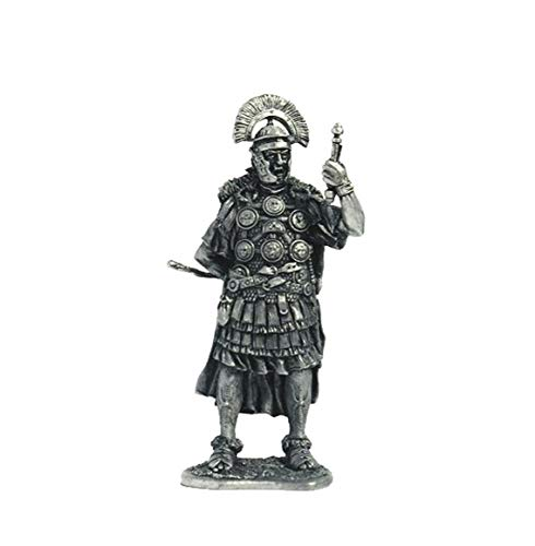 Military-historical miniatures Roman Centurion 1 Century AD Tin Metal 54mm Action Figures Toy Soldiers Size 1/32 Scale for Home Décor Accents Collectible Figurines Item #A89.