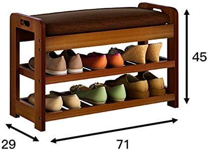 玄関ベンチ スツール 収納ベンチ 靴収納 ベンチ 玄関用フェイクレザートップの靴ベンチストレージオーガナイザーラックシューズ エントランスベンチ 省スペース (色 : As picture, サイズ : 71X29X45CM)