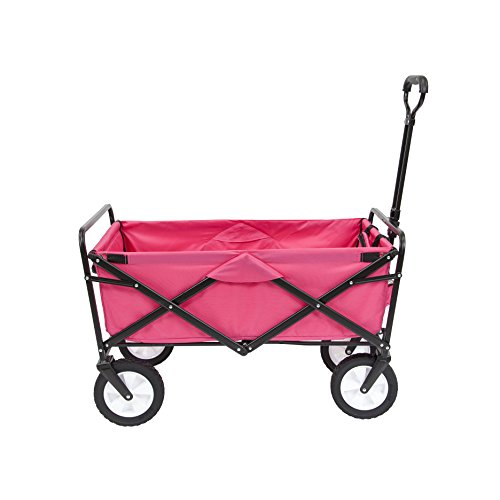 Duty Canvas Heavy Cover Wheel (Mac Sports Collapsible Folding Outdoor Utility Wagon, Pink)