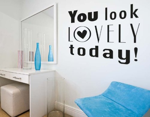 You Look Lovely Today! Wall Decal by Style & Apply - highest quality wall decal, sticker, mural vinyl art home decor, quotes and sayings - 4599 - Lilac, 47in x 47in