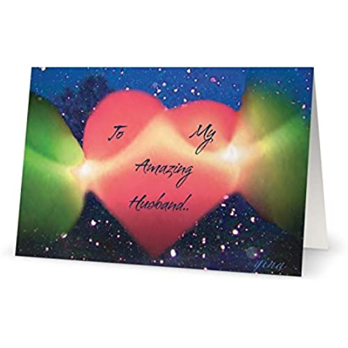 Valentines Day Spouse Husband Heart Love Greetiing Card (5x7) by QuickieCards. Always Fast FREE Shipping Sales