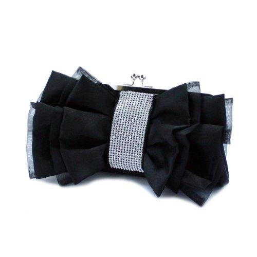 VENI MASEE®® Frauen & Girls Eleganz Abschlussball & Party Abend Handtasche mit Kristall, clutch bag, Geschenkideen - Farben verschiedenen, Preis / Stück - schwarz