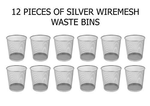 Osco 27.5cm Mesh Waste Bin - Silver (Pack of 12)