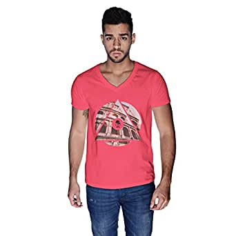 Creo Rome T-Shirt For Men - S, Pink