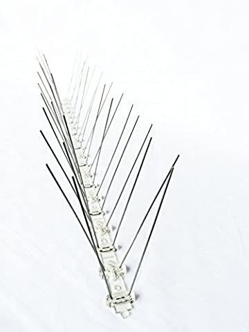 Bird Spikes Kit Stainless Steel Bird Spikes Defender Size:500×22×110mm, Pack Of 3. (Scat Cat Repellent)
