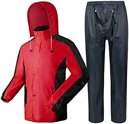 DNSJB Traje de lluvia para hombre, conjunto de pantalones y ...