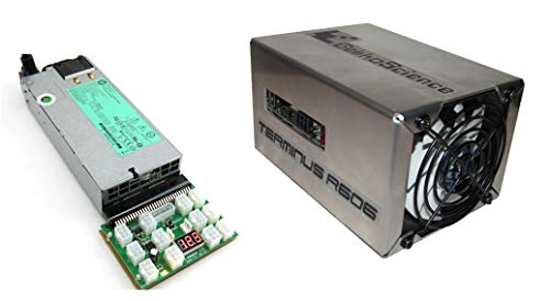 GekkoScience R606 Terminus USB Pod Miner Bitcoin Miner [up to ~1.1Th/s+ Batch #2] Only ~100W Power Consumption - [with 94% Platinum HP Power Supply Kit] Plug 'N Play (HP 1200 Watt)