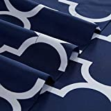 Mellanni Bed Sheet Set King-Navy-Blue - Brushed