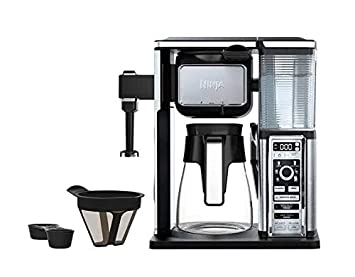 Ninja Coffee Bar Glass Carafe System Single Serve Pod Free With Built In Frother Cf091 (Renewed) by Amazon Renewed