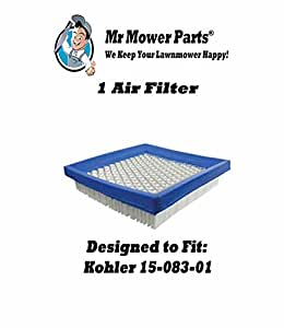 Mr Mower Parts Air Filter For Kohler 12 083 10-S 12 083 10 John Deere GY20661 Kohler 12 083 16 Lesco 023497 John Deere M145944