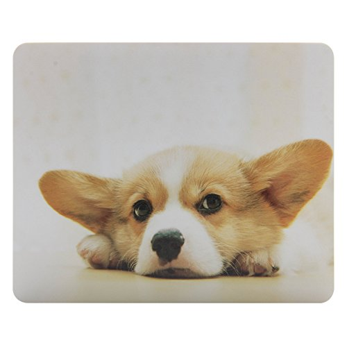 CIAOYE Mouse Pad Synthetic Leather RectangleSlim Gaming Mouse Pad Anti Slip High Pixel Mousepad,Corgi ()