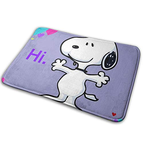 Meirdre Welcome Door Mat Hi Snoopy Indoor Outdoor Entrance Rug Floor Mats Shoe Scraper 15.7