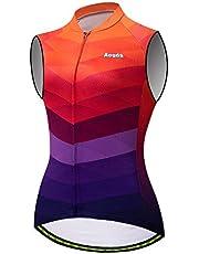 Aogda Cycling Sleeveless Shirts Women Bike Jerseys Team Biking Tops Bicycle Vests Clothing