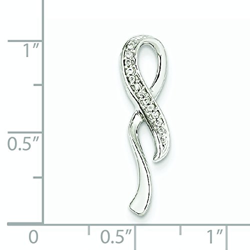 Or blanc 14 carats avec diamants bruts Pendentif JewelryWeb