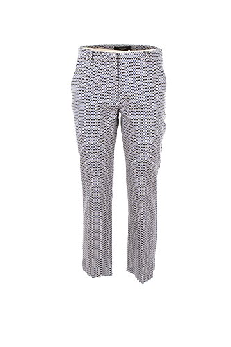 Pantalone Donna Max Mara Weekend 48 Bianco/blu Grecia Primavera Estate 2018