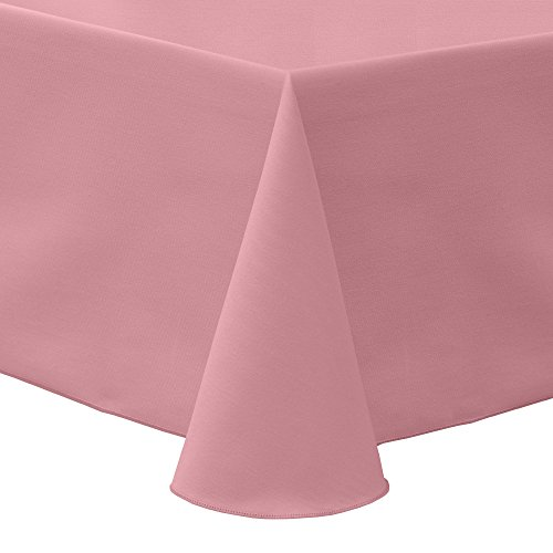 Ultimate Textile -23 Pack- Poly-Cotton Twill 60 x 120-Inch Oval Tablecloth, Dusty Rose Pink ()