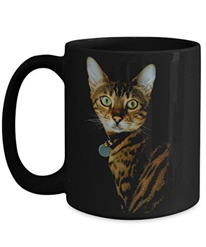 Bengal Cat Mug - Black - Large 15 oz