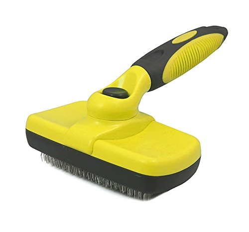Self Cleaning Slicker Brush,Umiwe Professional Pet Grooming Tool for Medium Large Size Dogs and Cats by Umiwe