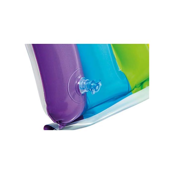 41h GSLBLcL La primera piscina de tu peque, con la piscina hinchable para bebé Intex la diversión está asegurada El hinchable mide 142x 119x84 cm y está fabricado en vinilo resistente de 0,25 mm de grosor Tiene un colorido parasol con forma de arcoíris y una capacidad para 82 litros, tras llenar la piscina el nivel agua llega a los 13 cm
