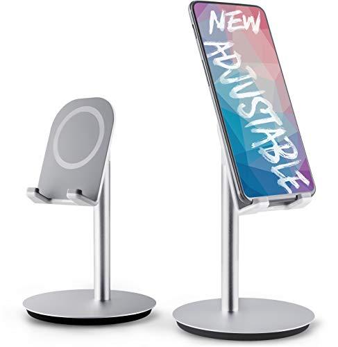 DinoCase Adjustable Cell Phone/Tablet Stand, [2018 Design] Multi Angle, Aluminum Modern Accessories, for Desk Desktop iPad Pro (Desktop Cell Phone)