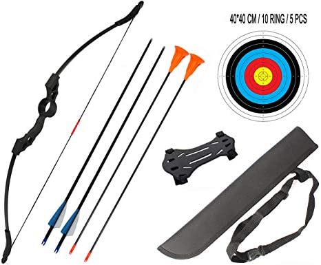 dostyle Junior Children Recurve Bow Hunting Archery Bow and Arrow Set Youth Bow Training Toy Best Gift for Kids 18 Lb