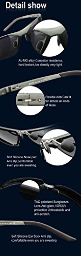 hombre polarizadas Blau Duco Gafas para 6806S Sport Gunmetal Verspiegelt sol de wwFq0P7a
