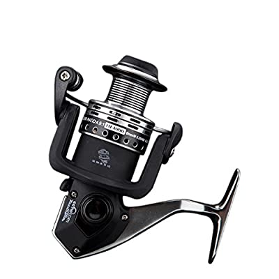 RG12+1BB Fishing Reel Saltwater Professional Metal Strong Corrosion Resistance Stainless Steel Bearing High Speed Spinning Reels Gear For Fishing 2000 4000 5000 6000 7000 Series Black
