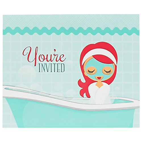 Little Spa Salon Makeover Party Supplies - Invitations (8)