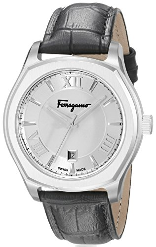 Salvatore-Ferragamo-Mens-FQ1990015-Lungarno-Stainless-Steel-Watch-with-Leather-Band