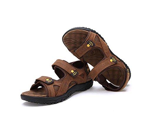 De Hombres Playa Libre Sandalias Zapatos Hombres Al para Aire Brown Zapatos para nxqqfgaYw