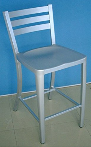 Alston Quality AL3637-7BS-24 Diana Aluminum Stool 24 in. H