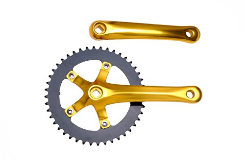 Pure Fix 48T Fixie Crankset for Fixed Gear Bike, Gold