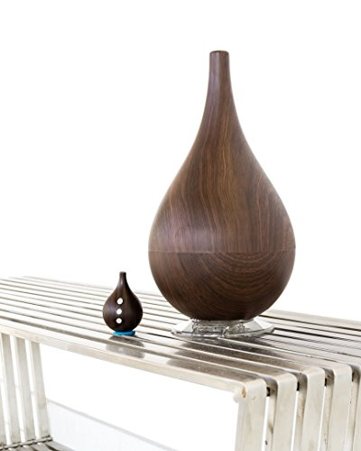 W4 Dark Grain Hybrid Humidifier with Matching Remote Control & Aroma Therapy Feature