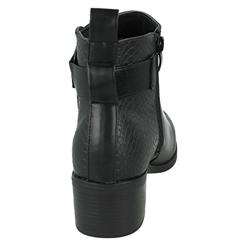 F50539 Down Ladies Boots Anke Black Style Earth To YBwAwxqRg
