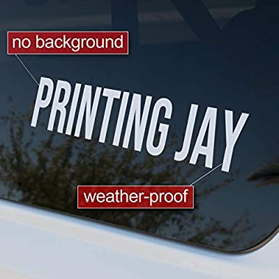 Design Your Own (13 Sizes + 18 Fonts + 16 Colors) Custom Vinyl Sticker | Car Window, Boat, Yeti Lettering JDM Automotive Windshield Graphic Name Letter Auto Vehicle Door Banner Sign Personalized Decal