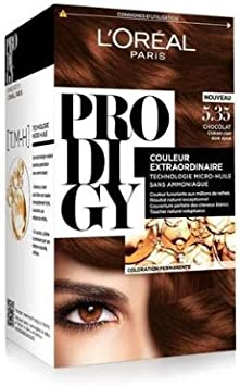 L Oréal – Prodigy Kit Coloración N ° 5.35 Chocolate – (Chatain ...