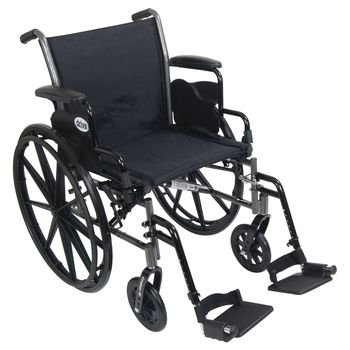 Sammons Preston Drive Cruiser III Lightweight, Dual Axle Wheelchair with Removable Height Adjustable Desk Arms (16