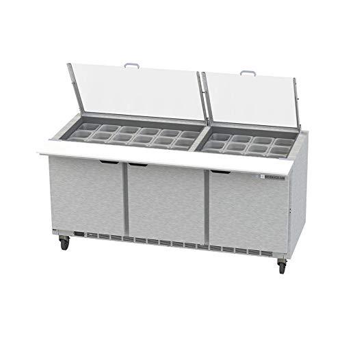 Beverage Air Mega Top - Beverage Air SPE72HC-30M-CL Clear Lid Mega Top Refrigerated Counter, 72