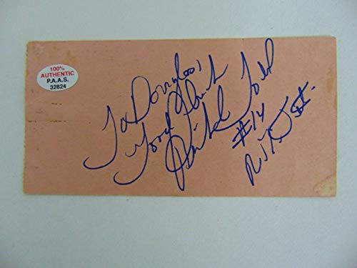 """New York Jets"" Richard Todd Hand Signed 2.25X4.5 Card PAAS COA"