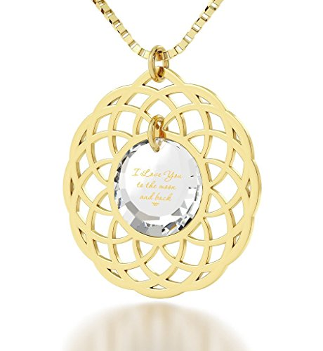 Gold Plated Love Moon Necklace