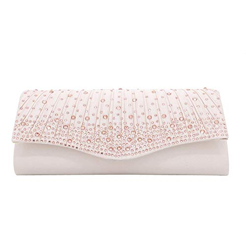 Evening Bag S Pleated Rhinestone Clutch Purse Evening Envelope Clutch Wedding Party