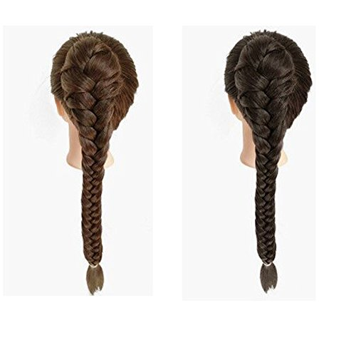55cm Braided Ponytail Hair Extensions Claw Clip in Fishtail Pony Tails Extension for Women (Light Brown) (Braided Pony)