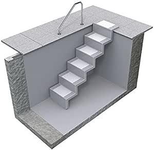 REKU Eleganz 60 U - Escalera para montaje universal (poliéster, 5 niveles), azul azur: Amazon.es: Jardín