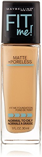 Maybelline New York Fit Me! Matte + Poreless Foundation, Rich Tan [238] 1 oz (Pack of 2)