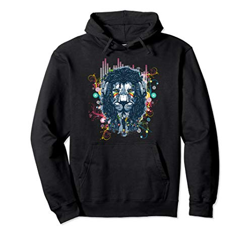 Rave T-shirt Nu - EDM Trippy Lion House Dance Rave Trance Dubstep Techno Music Pullover Hoodie