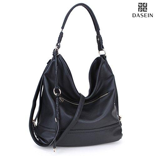 DASEIN Women Handbags Top-Handle Fashion Hobo Tote Bags PU Leather Shoulder Satchel Bags - Zip Top Hobo Handbag