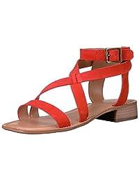 Franco Sarto Womens Alora Leather Closed Toe Casual Strappy Sandals