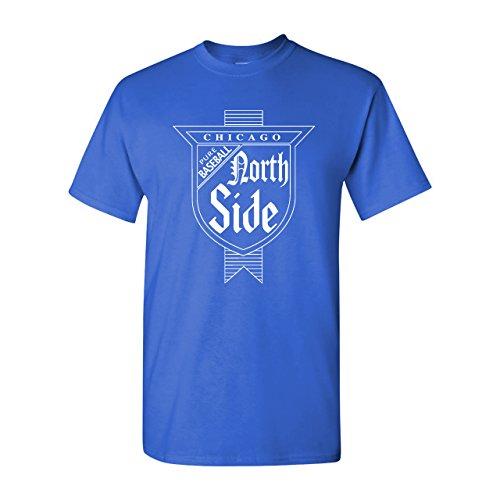 Strange Cargo North Side Chicago Baseball Parody T-Shirt L Royal